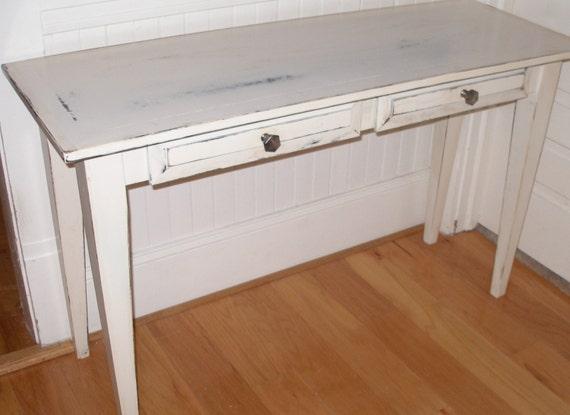 Desk, Foyer Table, White, Shabby Chic