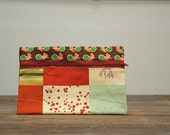 Antlers and Diego Rivera Zipper Clutch Pouch