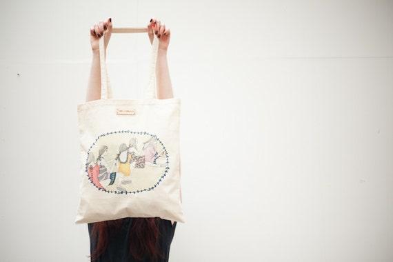 Best Friends Printed Tote Bag