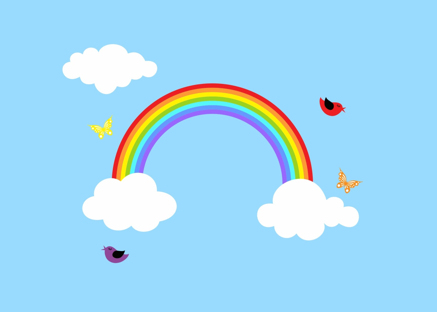 Baby Wall Sticker Rainbow Decal Reusable Rainbow Wall Decal Children Wall Decal