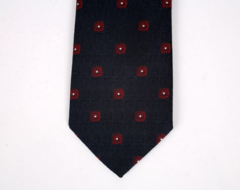 Christian Dior VIntage Necktie in Navy Blue with Red and White