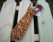 Baby LSU Tie - TIGER PRINT - Baby & Toddler Sizes Available