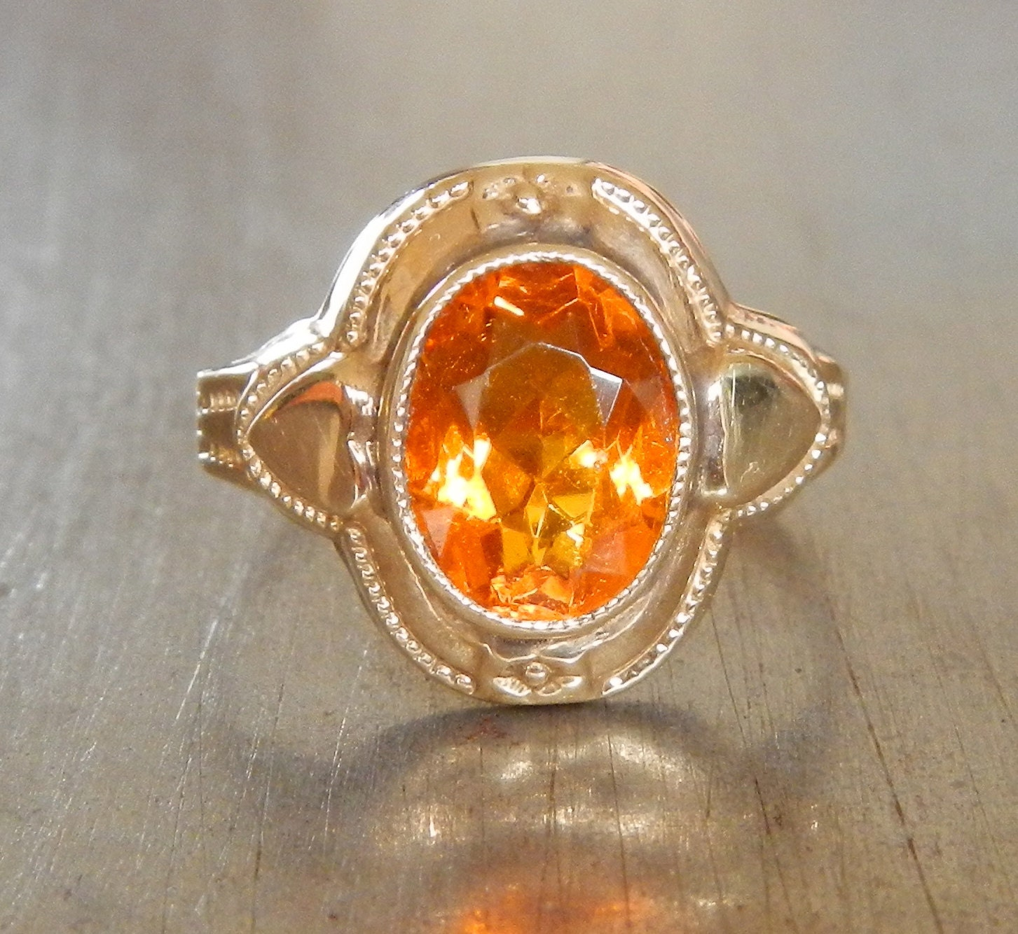 antique citrine ring citrine engagement ring vintage