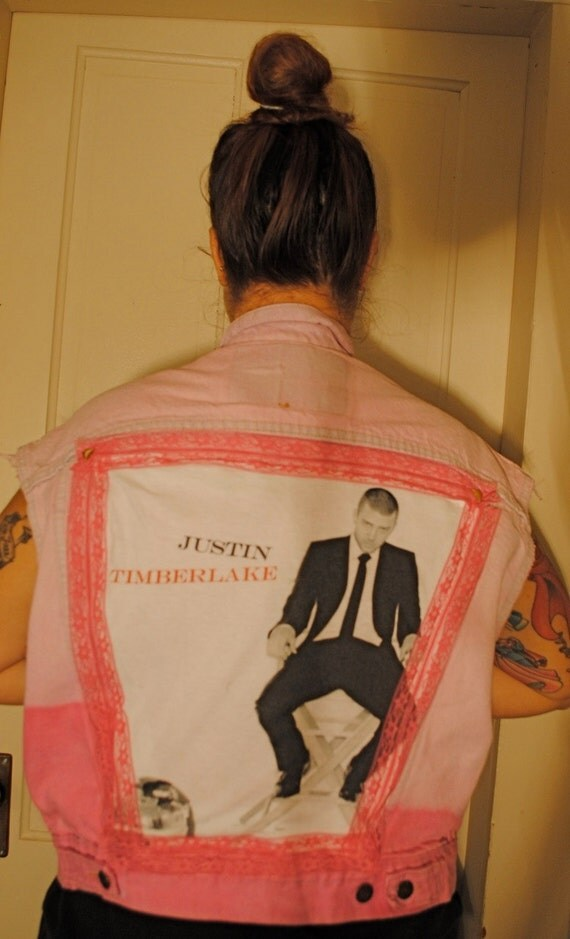 Studded PINK Justin Timberlake Vest - SMALL