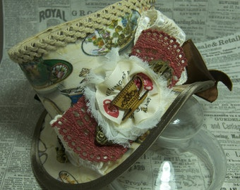 Mad Hatter, Alice in Wonderland, Steampunk Hat, Mini Top Hat, Tea Party, Sherlock, Gothic Hat, Lolita, Cosplay, Women Steampunk Hats, Tea