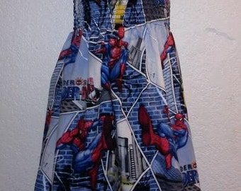 Spiderman smocked top summer dress