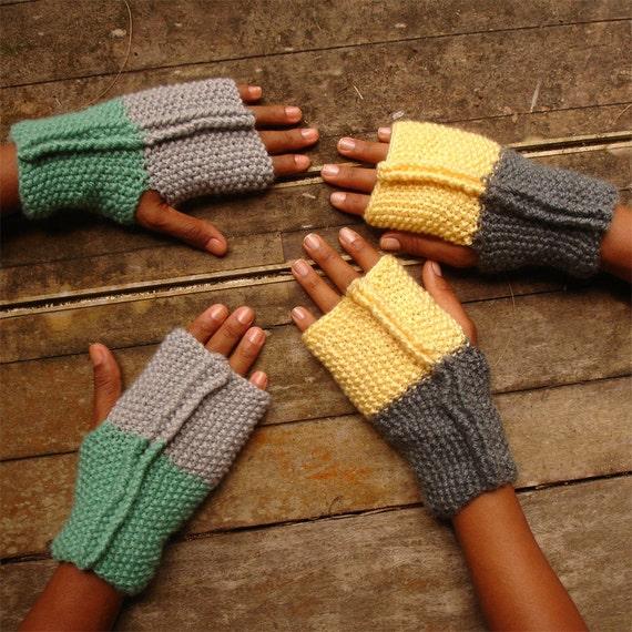 Knitting Gloves For Beginners Fingerless : Items similar to fingerless pattern gloves dore mittens