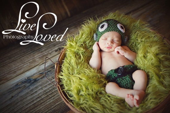 Frankenstein Costume, Diaper Cover and Hat Set, Halloween, Babies, Costume, Newborn Costume, Newborn to 6 months, Photo Prop