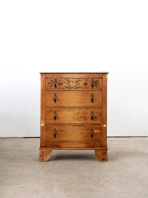 1940s monterey dresser vintage painted wood highboy cabinet for Where can i buy vintage furniture