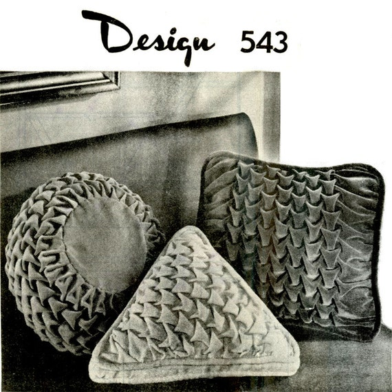 Smocking Patterns For Cushions 1960s Smocked Pillows Pattern