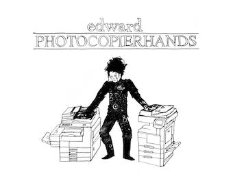 Edward Photocopierhands - Giclee print