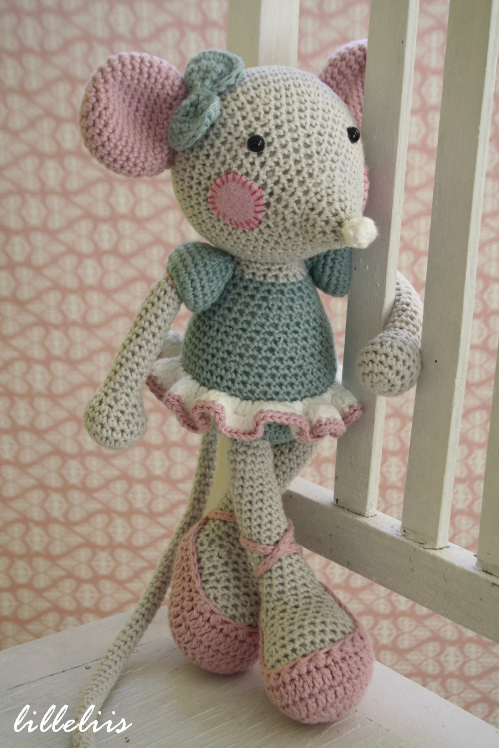 Ballerina Mouse Crochet Amigurumi Toy By Lilleliis On Etsy