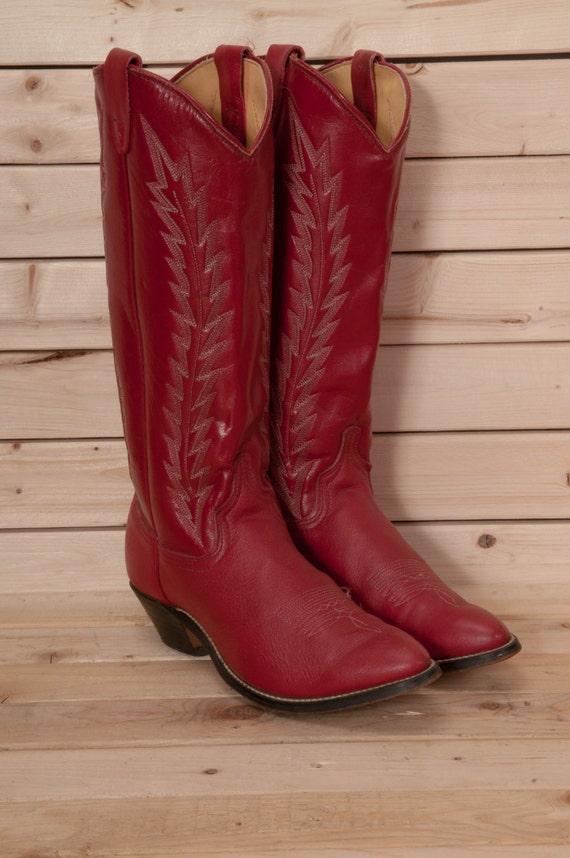 Excellent Cute Red Western Cowboy Boots For Women Of 2018