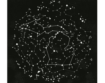 Michigan Constellation Print, 11x14