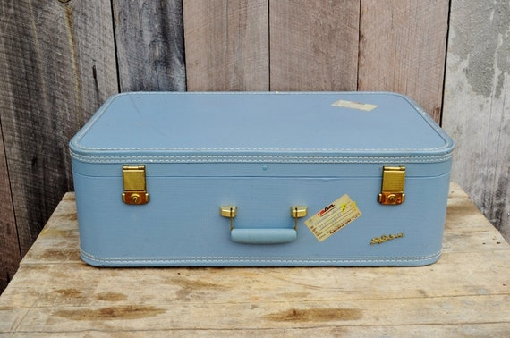 Vintage Blue Suitcase | Luggage And Suitcases