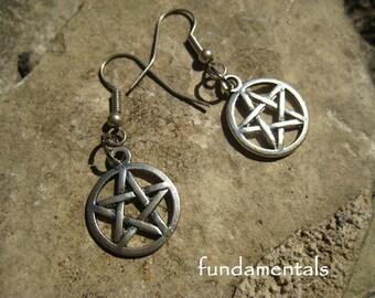 pentacle earrings