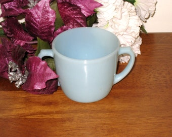 Fire King Azurite / Delphite Blue Milk Glass Sugar Bowl / Perfect Vintage Condition