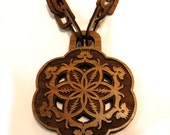Grateful Dead Inspired Wooden Chain Necklace made of Sustainable Walnut, 100% natural wood bling
