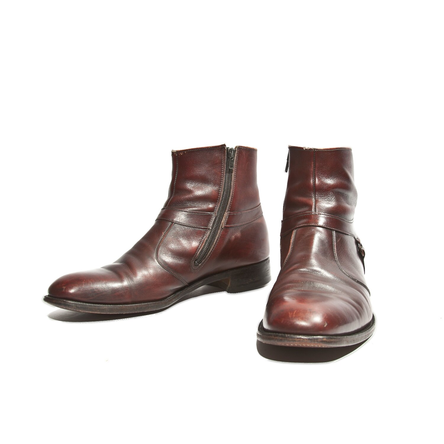 Cordovan Ankle Boots Zipper Sides Beatle Boot By Knapp S
