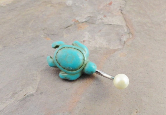 Turquoise Opal Belly Ring