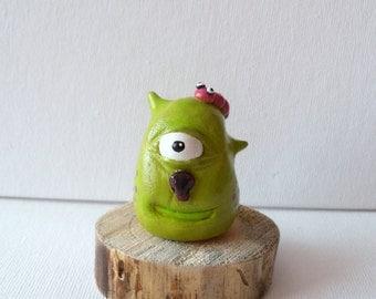 Monster Sculpture - Polymer Clay Sculpture - Leo The Forest Spirit - Mixed Media - OOAK