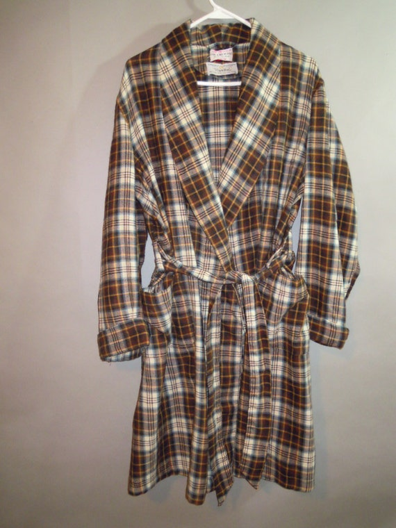 VIYELLA' // Mens Wool/Cotton Robe // Scotland // Patch Pockets // Self Tie