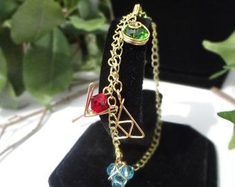 The Legend of Zelda® Ocarina of Time's Three Spiritual Stones Bracelet/Anklet