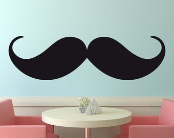 Vinyl Wall Decal Mustache Wall Decal Menu