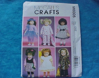 McCalls Crafts 6005 American Girl Pattern.