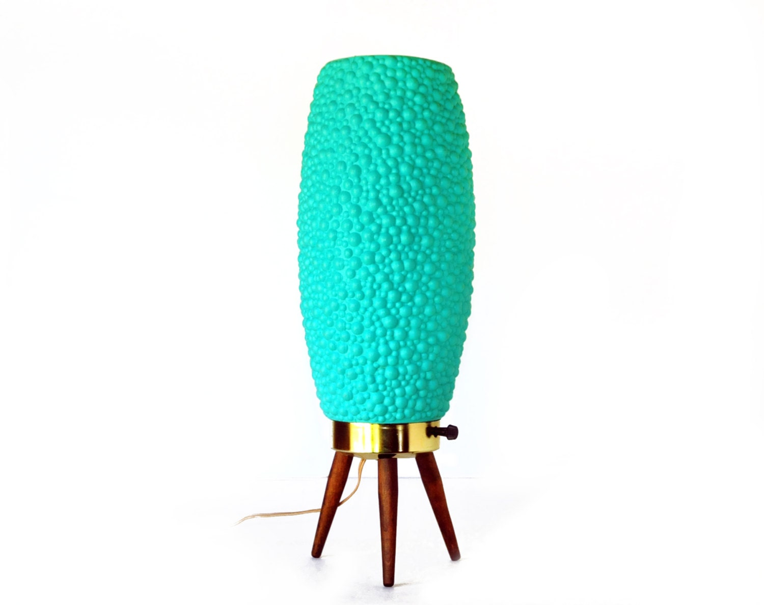 Beehive Lamp Mid Century Modern16 5 Teal Turquoise