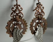 Another Flight II - Steampunk Earrings by Christina Davis