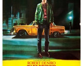 "Robert DeNiro - Taxi Driver - Home Theater Media Room Decor - 13""x19"" or 24""x36"" - Movie Poster Print - Martin Scorsese - Jody Foster"