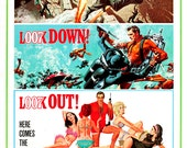 "James Bond 007- Thunderball - Home Theater Media Room Decor - 13""x19"" or 24""x36"" - Movie Poster Print - Man Cave Decor - Sean Connery"