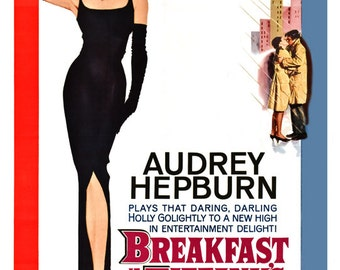 "Breakfast at Tiffany's - Home Theater Decor - Classic Movie Poster Print - 13""x19"" or 24""x36"" - Audrey Hepburn - Mid Century Modern Art"