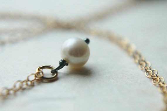 ON HOLD. Pearl Pendant Necklace with 14k Gold. Double Strand Necklace. Pearl Double Wrap Necklace. Long Chic Necklace.