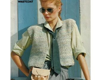 Knitting Pattern Ladies Gilet : Popular items for gilet on Etsy