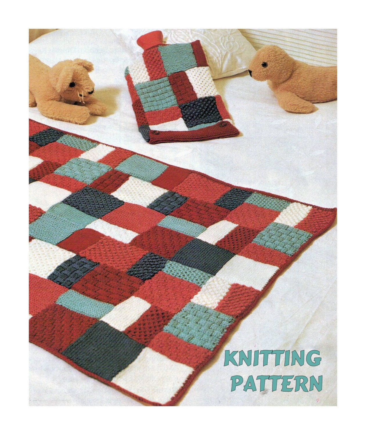 Easy Knitting Patterns Uk : Instant download pdf beginners easy knitting pattern to make