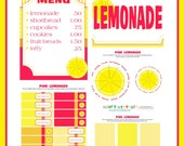 Lemonade Stand Printables Pink Lemonade Customized Party Printables FULL Collection Immediate Download