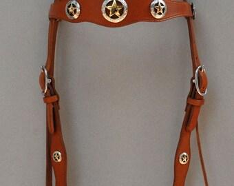 Texas Star Concho Headstall