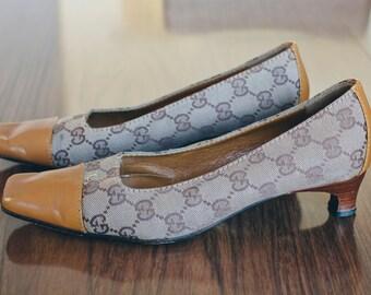 Vintage 2000s GUCCI Signature Mule Pump High Heel Shoes