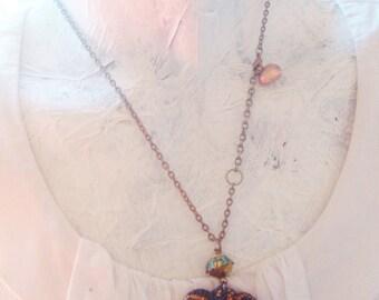 Valentines sea glass real victorian heart shaped handmade pendant OOAK