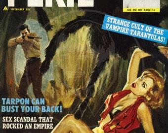 Peril (Sep 62) - 10x13 Giclée Canvas Print of a Vintage Pulp Magazine Cover