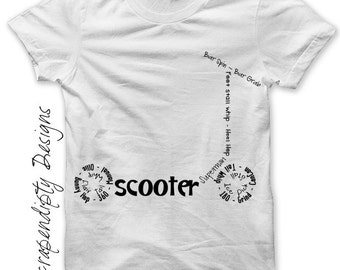 Scooter Iron on Shirt PDF - Sports Iron on Transfer / Boys Room Art Decor / Toddler Boys Clothes / Scooter Teen Boys Shirt / Digital IT146-P