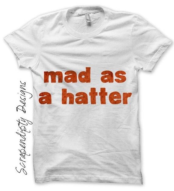 Mad Hatter Iron on Shirt PDF - Alice in Wonderland Iron on Transfer / Womens Tshirt Design / Kids Boys Clothing Tops / Wonderland Shirt IT72