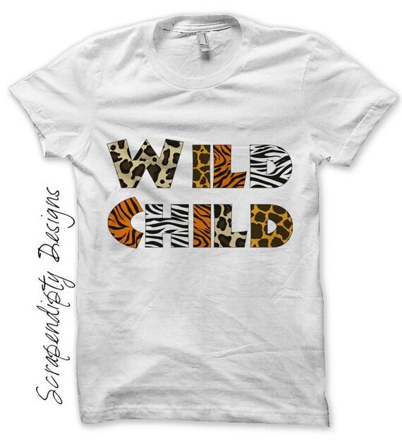 Wild Child Iron On Transfer Zoo Iron On Shirt Pdf Kids