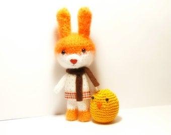 Bunny Amigurumi Crochet mohair , Bunny Crochet Toy, Bunny Toy, Rabbit, Animal Crochet