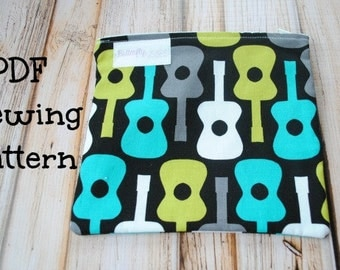 PDF Sewing Pattern E-book - Reusable Snack Bag with zipper closure- Instant Download