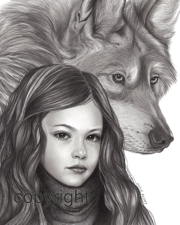 Renesmee Breaking Dawn Part 2 Pencil Drawing By TheBerryPress