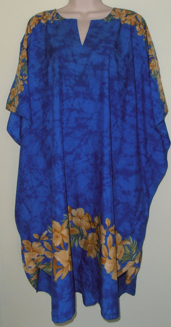 1980 Vintage Rima Of Hawaii Moo Moo Swimsuit Cover Nightwear