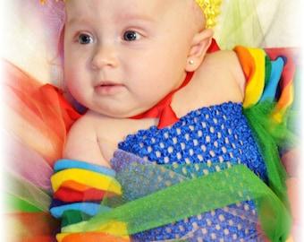 Rainbow Inspired Tutu Dress (Infant)